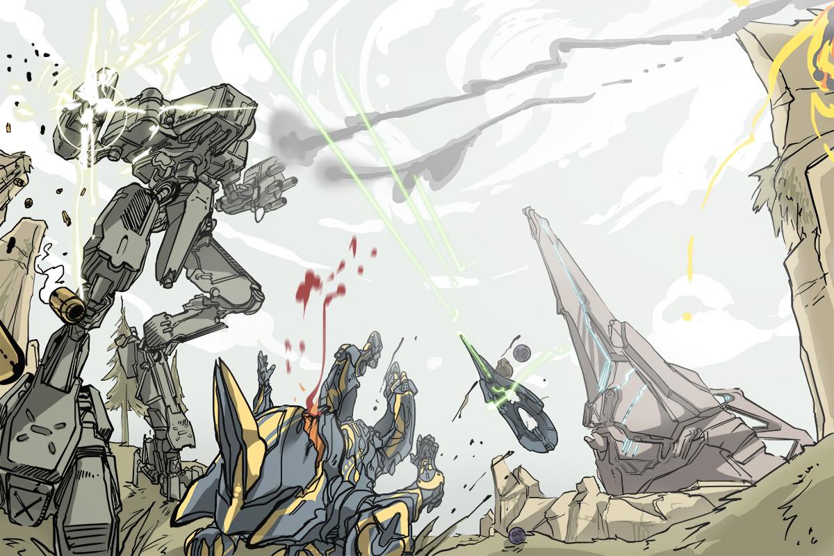 Les plus beau Clin d'oeil d'Halo 4 Halo-4-fan-artwork-mantis