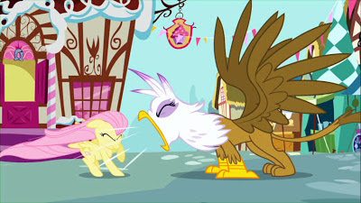 Gilda yells at Fluttershy