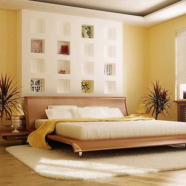 25 bedroom designs in japanese style lighting colors - Modern japanese bedroom furniture ...