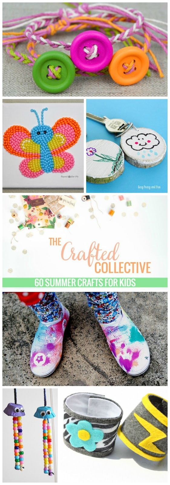 "60 Summer Crafts for Kids--Sure to keep the ever-favorite ""I'm BORED!"" to a minimum! www.pitterandglink.com"