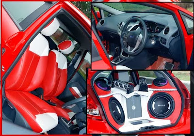 Modification of Ford Fiesta 1.4L Trend A/T 2010, Red On Red
