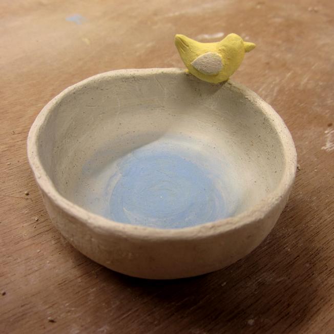 coupelle avec oiseau en céramique 2 - http://spicerabbits.blogspot.fr/
