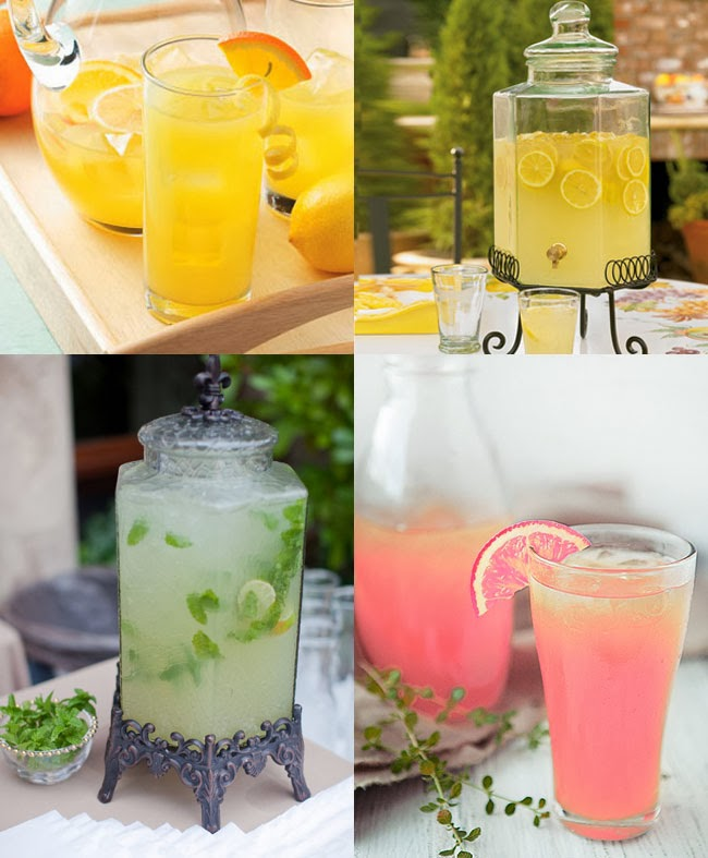 Orange, lemon, lime, pink grapefruit lemonade