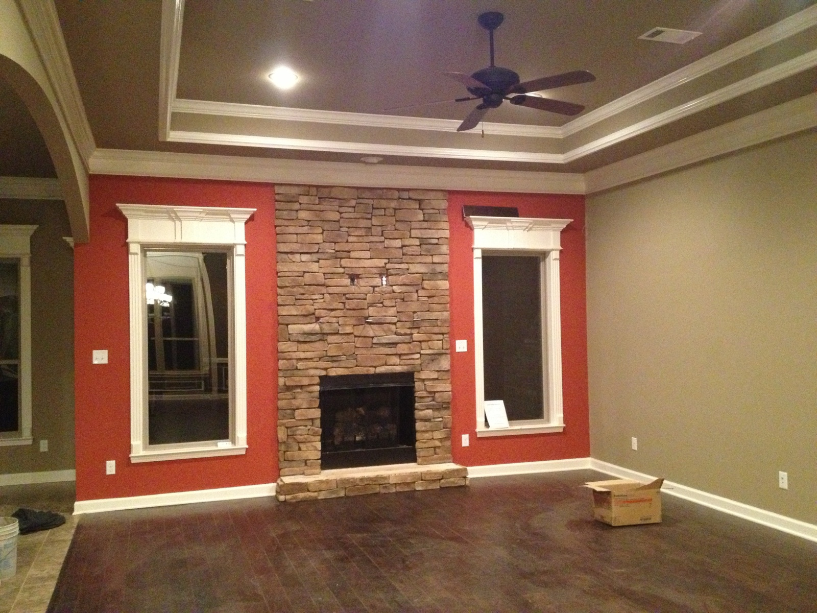 Paint Brick Fireplace Same Color Wall