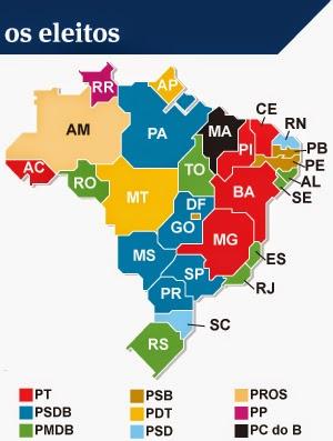Governadores por Estado da Federacao