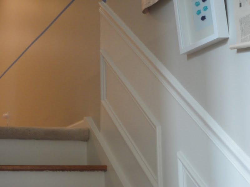 Carnoustie Lane: Upstairs Hallway and Fake Wainscoting on