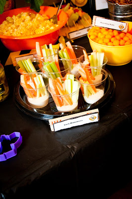 Carrots, Celery and Ranch for Construction Birthday Party