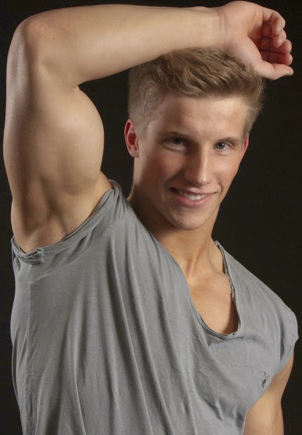 Young Blonde Man's Shaved Armpits
