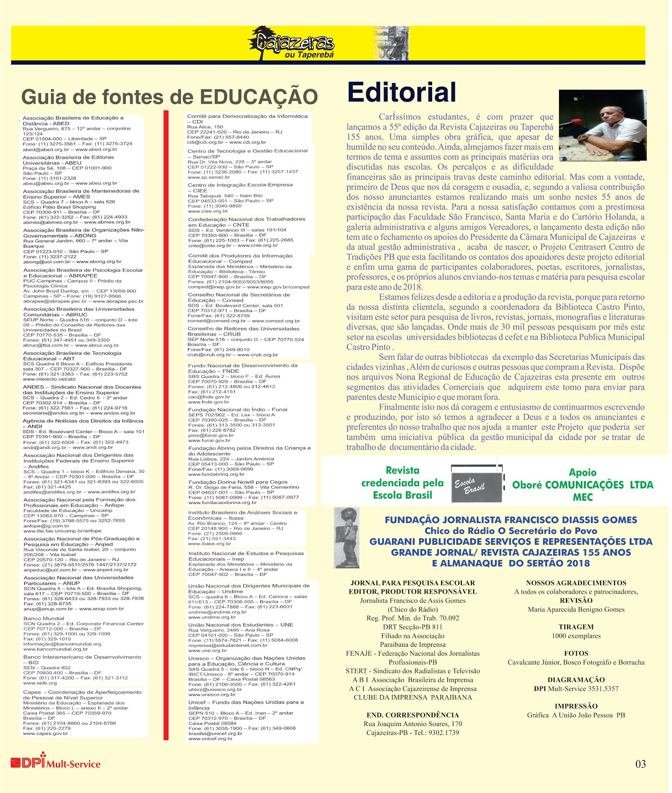 PAGINA  CORRIGIDA DA REVISTA CAJAZEIRAS  PARA PESQUISA  ESCOLAR