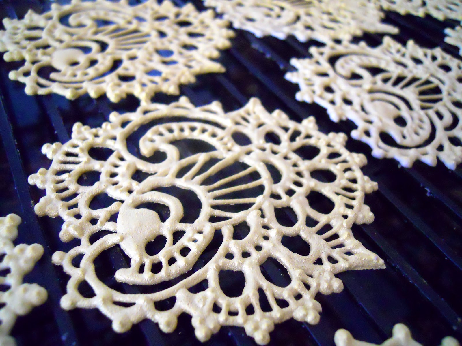 Oh Sugar Events Royal Icing Henna Transfers