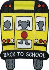school bus house flag