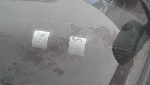 Rechts Links Aufkleber für das Auto