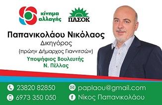ΠΑΠΑΝΙΚΟΛΑΟΥ ΝΙΚΟΛΑΟΣ