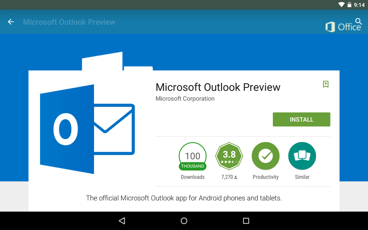 Official Microsoft Outlook App Available On Android In Addition To Ios Now