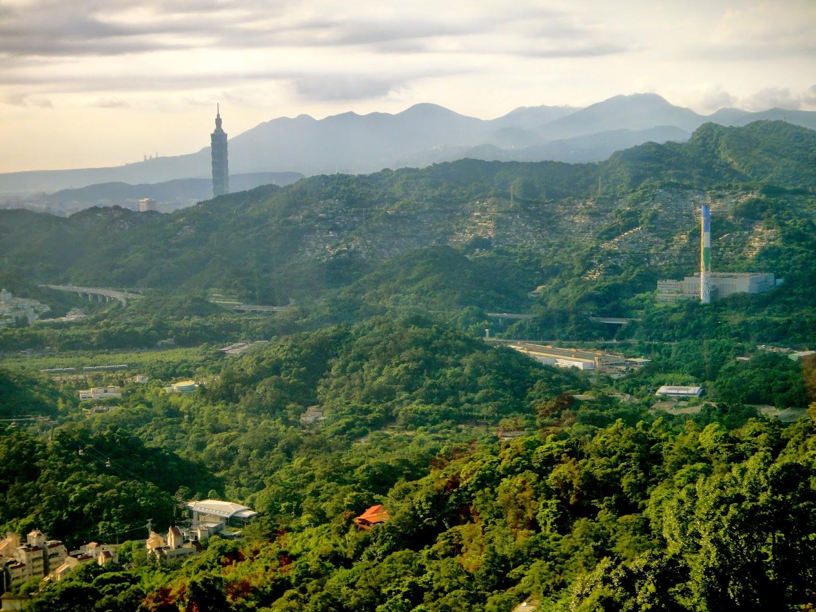 View from Maokong Gondola Taipei Taiwan