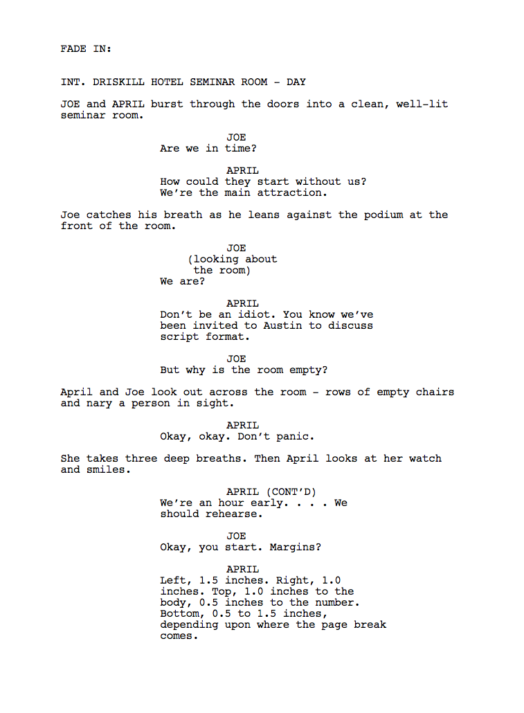 sample film scripts click here for loads of free sample scripts