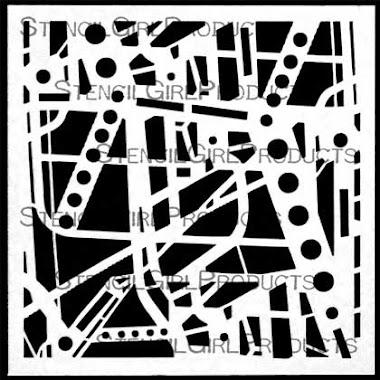 """6"""" x 6"""" stencil SKI-LIFT WORKS"""
