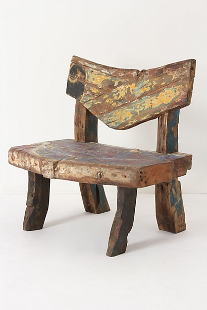 Cadeira reutilize madeira demolição