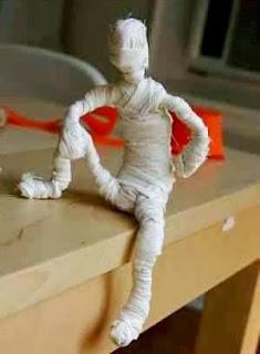 Membuat Kreasi Kerajinan Tangan Dari Barang Bekas, Mini Mumi 5