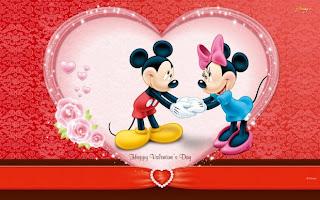 Mickey y minnie mouse el día de san valentin