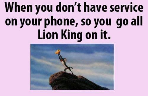 When You Don't Have Signal In Your Phone