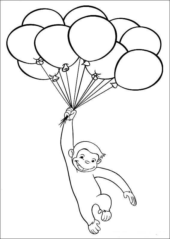 monkey george coloring pages - photo#6