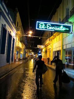 Santiago de Cuba rainy night