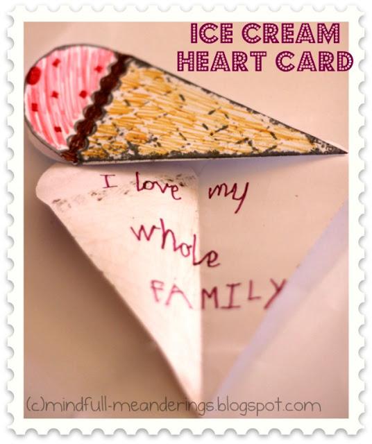 Icecream Heart card