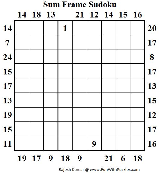 Sum Frame Sudoku (Daily Sudoku League #142)