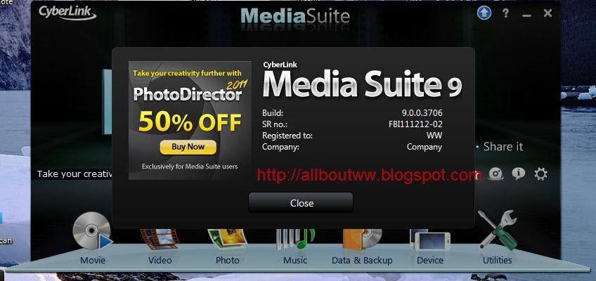 Cyberlink media suite 9 0 0 3706 setup keygen
