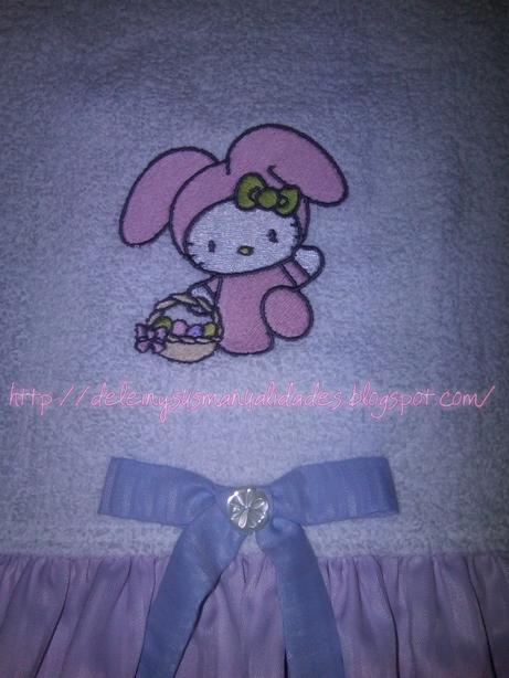 Juegos De Baño Kitty:Delein Padilla y sus manualidades: Juego de Baño Hello Kitty conejita