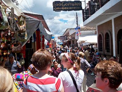 Panajachel shopping street, Guatemala