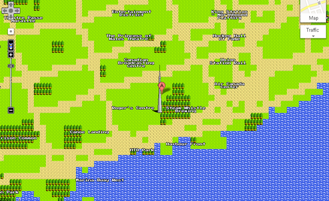 8-bit image Google Map of Toronto