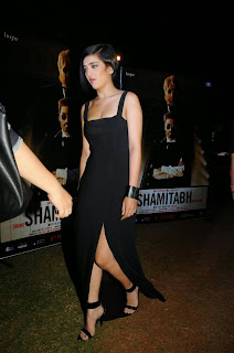 Actress Akshara Haasan  Pictures in Long Dress at Shamitabh Movie Trailer Launch  5