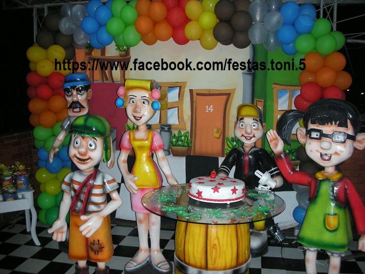 Festas Toni  Decoração de Festa Infantil Chaves  Cenário