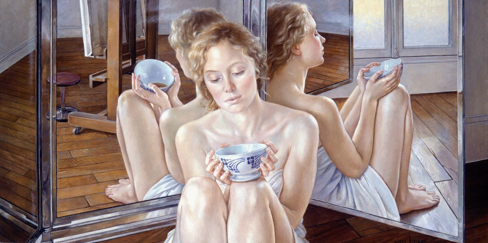 Francine Van Hove Young women Oil Paintings