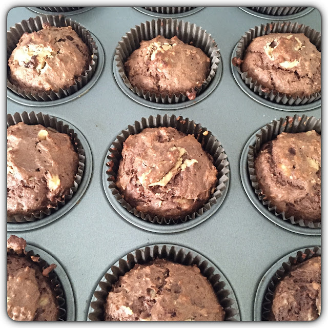 chocolate peanut butter protein muffins
