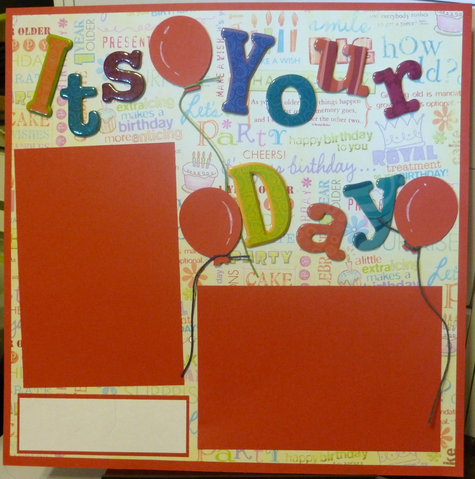 Love Crafting: Birthday Layout