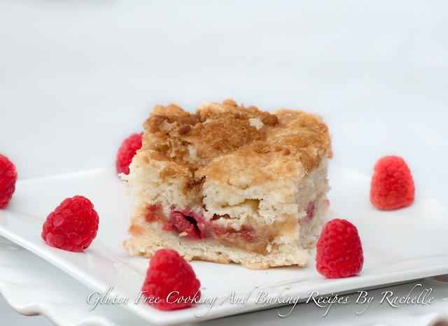 Gluten-free Dairy-free Raspberry Coffee Cake