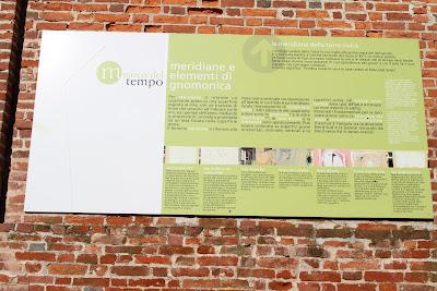 Sundial Informational Signs, Giardino del Belvedere, Mondovì