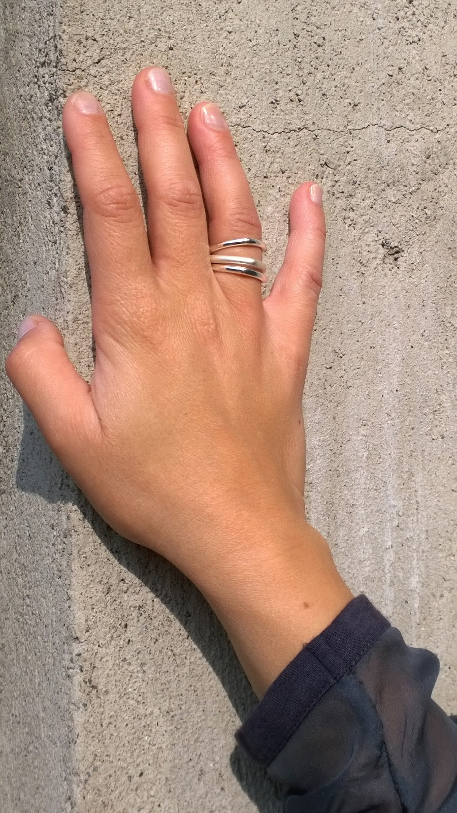 stacked silver rings
