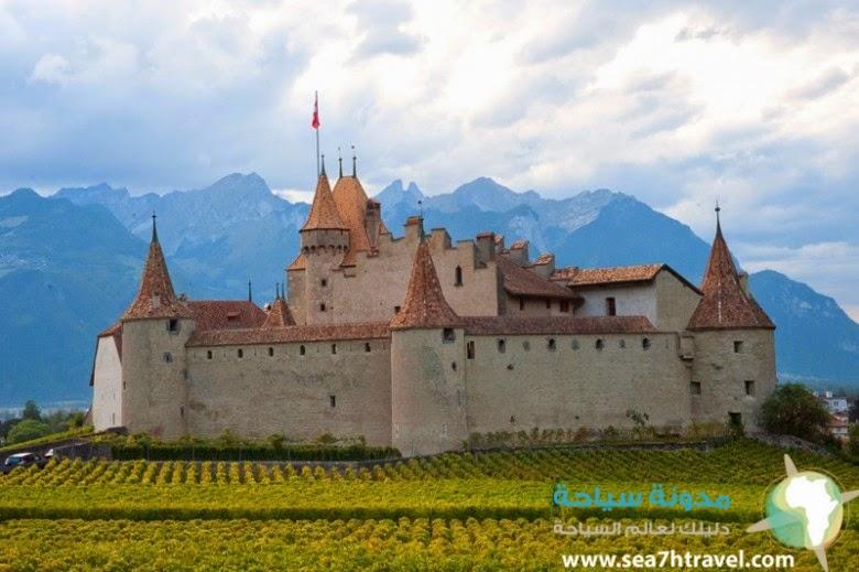 قلعة شاتو دو شيون بسويسرا