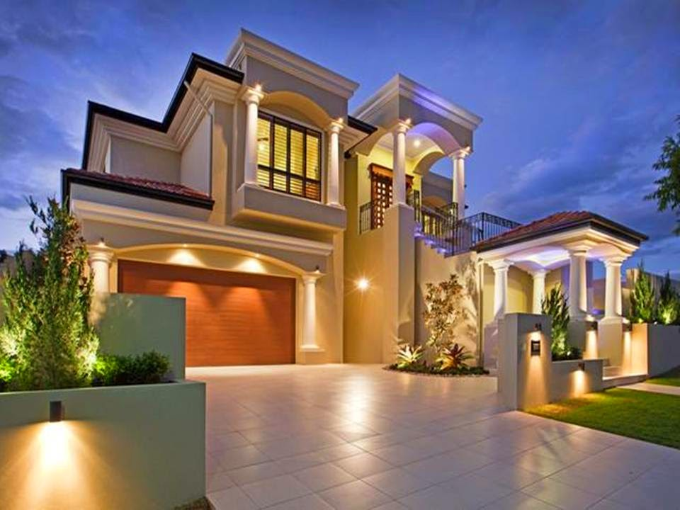 Home decor 13 beautiful home exterior designs for A beautiful house image