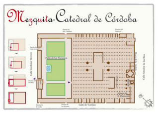 Plano de la mezquita-catedral de Córdoba (España)