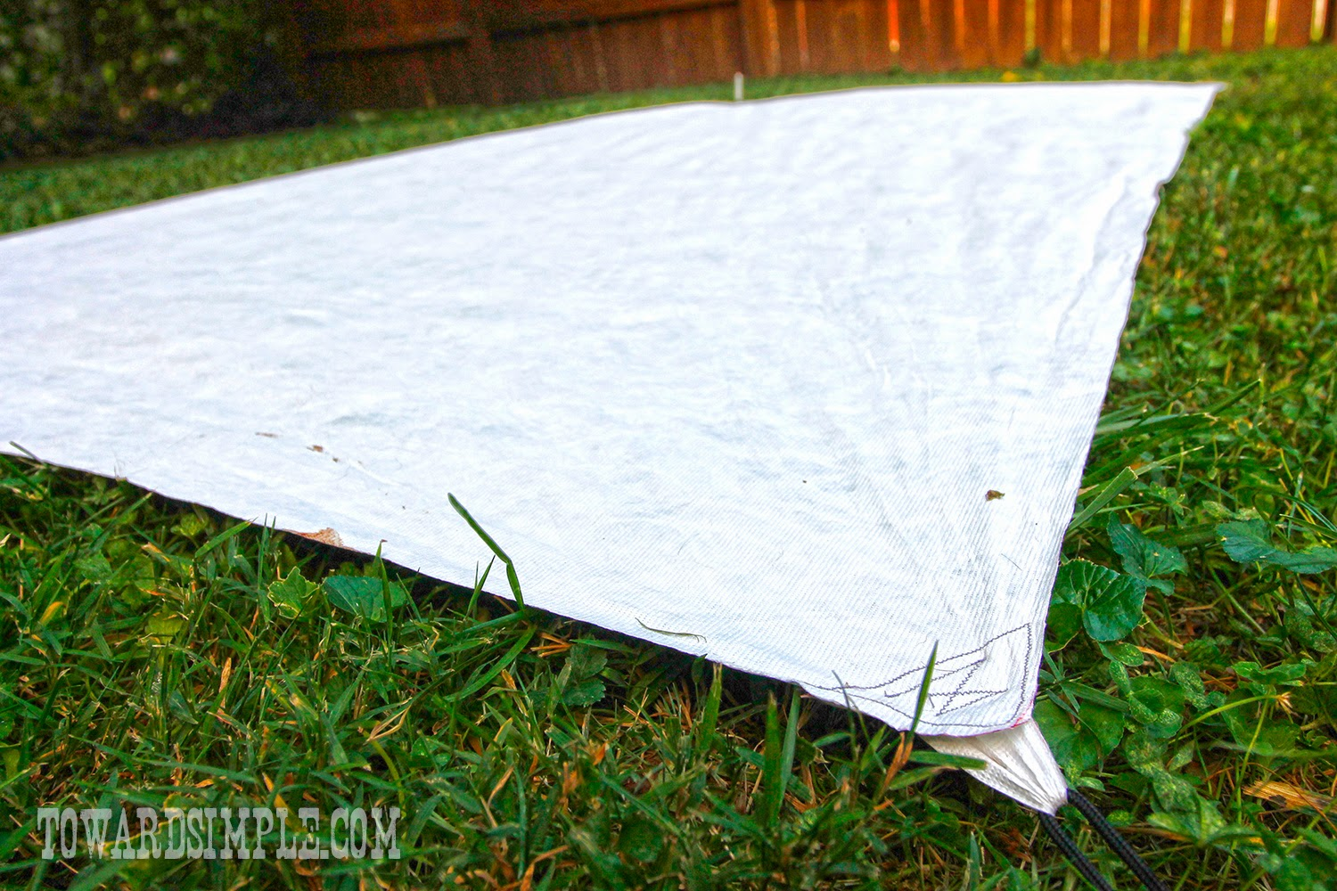 Finished project DIY Tyvek Tent Footprint & toward simple: Make a DIY Tyvek Tent Footprint