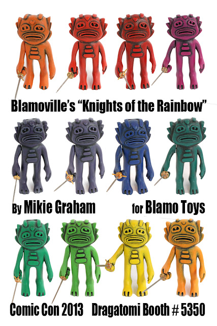 San Diego Comic-Con 2013 Exclusive Knights of the Rainbow Swampy Wooden Figure by Blamo Toys & Mikie Graham