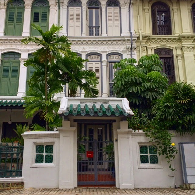 Restored terrace houses on Emerald Hill Road behind Orchard Road