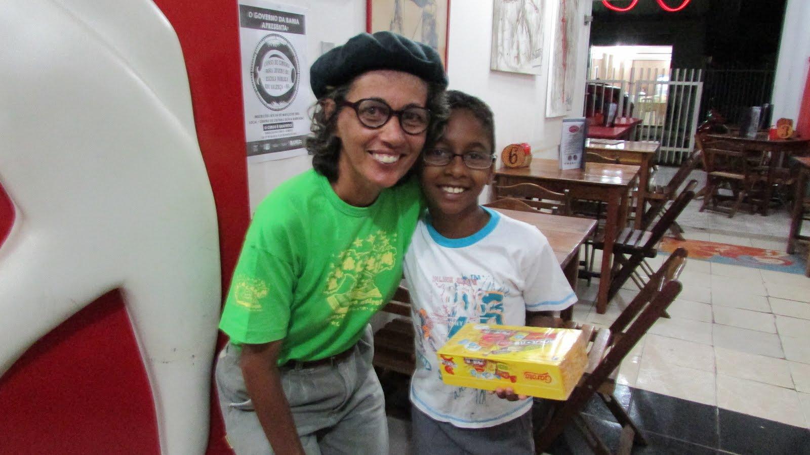 João, ganhador da caixa de chocolate