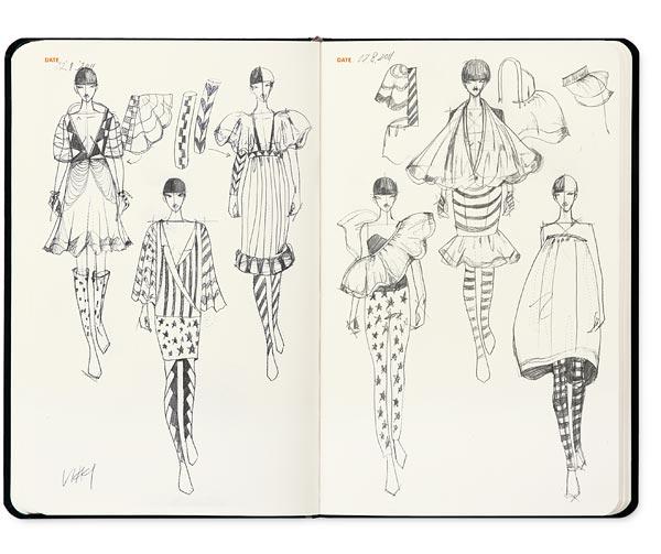 Sketchbook fashion design innova for Fashion sketchbook with templates