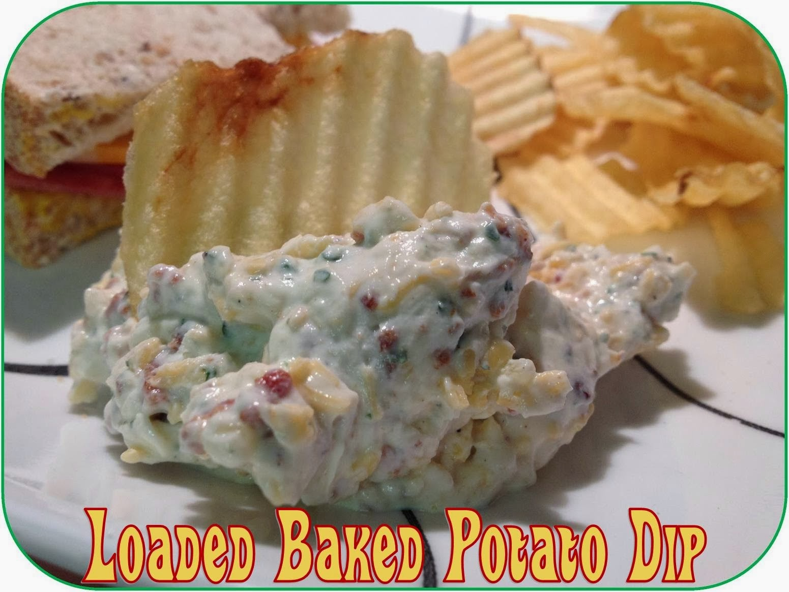 Loaded baked potato dip #party #picnic